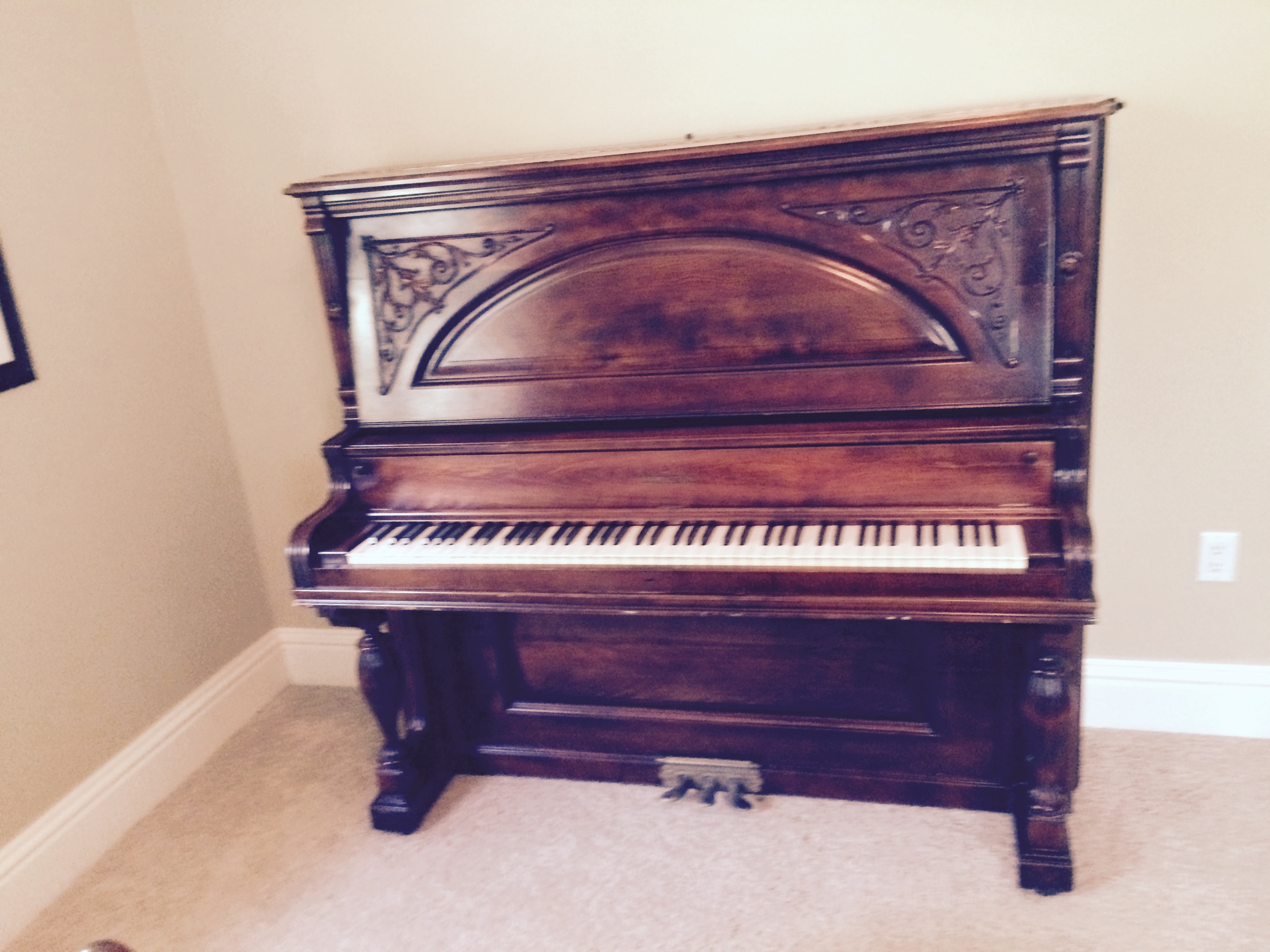 Hamilton Upright Cabinet Grand Piano | Roy Ratigan Piano Tuner
